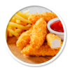 Pizza Time chicken nuggets and fries